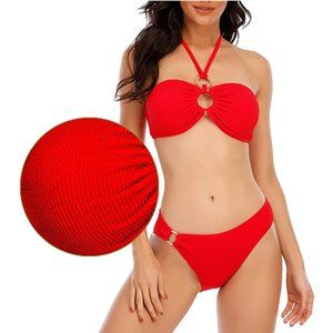 Bathing Suits Tummy Control, Red